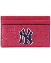 Gucci - Card Case With Ny Yankeestm Patch - Lyst