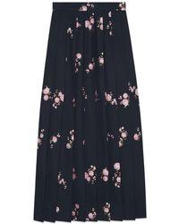 Gucci - Floral Fil Coupé Maxi Skirt - Lyst