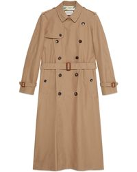 Gucci - Trench in gabardina con Chateau Marmont - Lyst