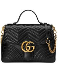 Gucci - Gg Marmont Matelassé Top Handle Bag - Lyst