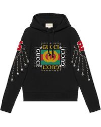 Gucci - Pullover mit Logo und Kristallen - Lyst