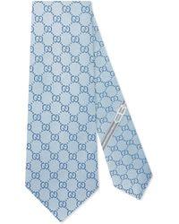 Gucci - Cravate en soie motif GG - Lyst