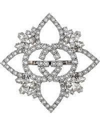 Gucci - Crystal Interlocking G Flower Multi-finger Ring - Lyst