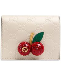 Gucci - Signature Card Case With Cherries - Lyst