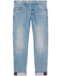Gucci - Jeans mit Umschlag - Lyst