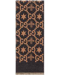Gucci - Sciarpa con api e stelle GG jacquard - Lyst