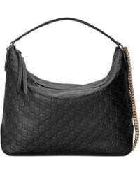 Gucci - Große Hobo-Tasche aus Signature - Lyst