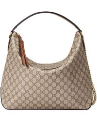 Gucci - Gg Supreme Large Hobo - Lyst