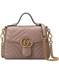 Gucci - GG Marmont Mini Top Handle Bag - Lyst