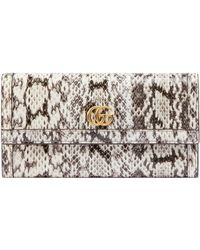 Gucci - - Ophidia Snakeskin Continental Wallet - Lyst