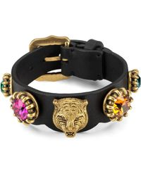 Gucci - Bracelet In Leather - Lyst