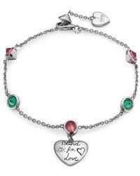 Gucci - Blind For Love Bracelet In Silver - Lyst