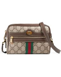 0d3d37e5ae72 Gucci Girls' Gg Supreme Leather-trim Cat Messenger Bag in Natural - Lyst
