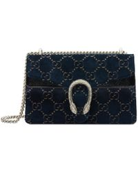 51b9d10601a8 Gucci Dionysus Gg Velvet Small Shoulder Bag in Red - Save 6% - Lyst
