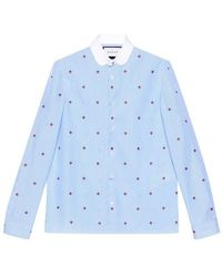 Gucci - Bee Fil Coupé Cambridge Shirt - Lyst