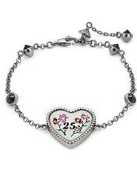 Gucci - Heart Bracelet In Silver - Lyst