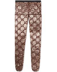 Gucci - Collant con paillette e ricamo GG - Lyst