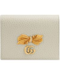 Gucci - Porte-cartes en cuir avec nœud - Lyst