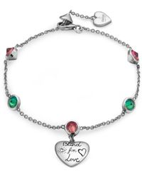 Gucci - Blind For Love Bracelet In Silver - Lyst