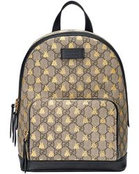 Gucci - GG Supreme Bees Backpack - Lyst