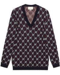 Gucci - Pullover aus GG Diamond Wolle - Lyst