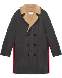 Gucci | Felt Coat With Wool Lining | Lyst