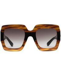 96471ae4a9f1b Lyst - Gucci Women s Blue Plastic Cat Eye Sunglasses G GG 3641 s ...