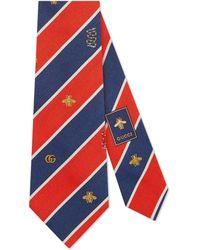Gucci - Cravate en soie à motif symboles - Lyst