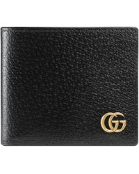 2c600028197e Gucci GG Marmont Leather Bi-fold Wallet in Brown for Men - Lyst
