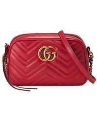 Gucci | Gg Marmont Matelassé Shoulder Bag | Lyst