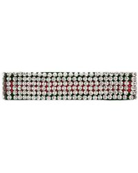 Gucci - Web Headband With Crystals - Lyst