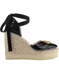 Gucci - Alpargatas con plataforma - Lyst