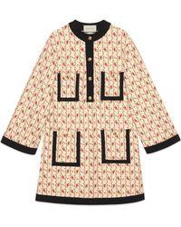 Gucci - Robe en jersey de viscose à imprimé rose - Lyst