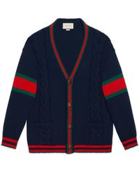 Gucci - Oversize Cable Knit Cardigan - Lyst