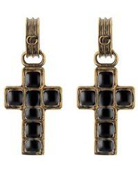 Gucci - Earrings With Cross Pendant - Lyst