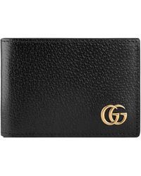 feb13ac97645d2 Gucci Gg Marmont Leather Bi-fold Wallet in Natural for Men - Lyst
