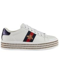 Gucci - Ace Trainer With Crystals - Lyst