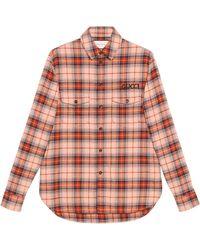 Gucci - Hemd aus karierter Baumwolle mit Paramount-Patch - Lyst