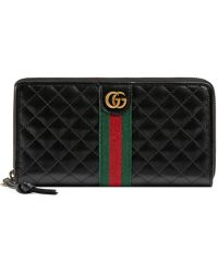 Gucci - Leather Zip Around Wallet With Double G - Lyst