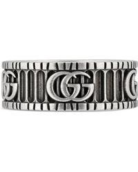 Gucci - Anello con Doppia G in argento - Lyst
