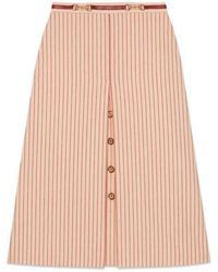 Gucci - Wool Skirt With GG Buttons - Lyst
