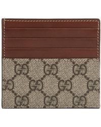 d9cdce24f425f1 Lyst - Gucci Bengal Card Case in Pink