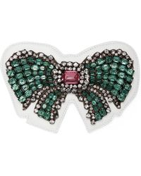 Gucci - Ace Crystal Bow Patch - Lyst