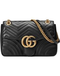 bc6d80a3d18 Gucci - Bolso de hombro GG Marmont mediano - Lyst