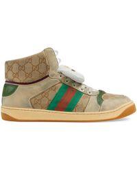 8e3d73a0dc0 Gucci - Men s Screener GG High-top Sneaker - Lyst