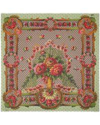 Gucci - Flower Vase Print Modal Silk Shawl - Lyst