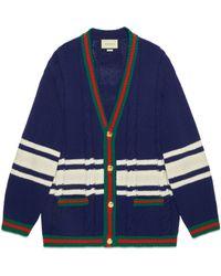 Gucci - Cárdigan de lana con parches - Lyst