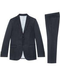 Gucci - Monaco Anzug aus Wollgabardine mit Bienen - Lyst