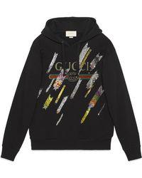 Gucci - Logo Sweatshirt With Shooting Stars - Lyst