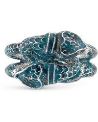 Gucci - Garden Enamel Snakes Ring - Lyst